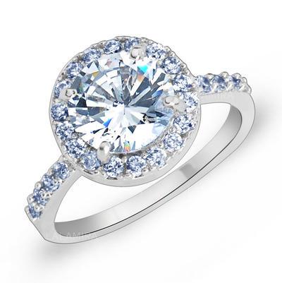Rings Zircon/Platinum Plated Ladies' Gorgeous Wedding & Party Jewelry (011166721)