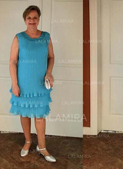 Vestidos princesa/ Formato A Decote redondo Tecido de seda Glamorouso Vestidos para a mãe da noiva (008212801)