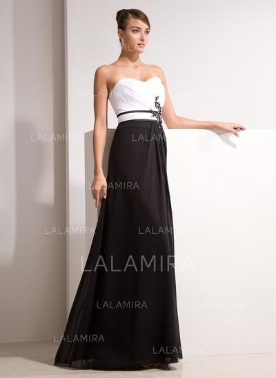 Princess Chiffon A-Line/Princess Zipper Up Evening Dresses (017014461)