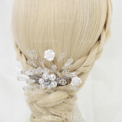 Glamorosa Crystal/Aleación/Perlas de imitación/Cerámico Peines y pasador (042070841)