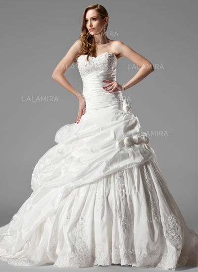 Taffeta Sweetheart Sleeveless - Sexy Wedding Dresses (002000461)