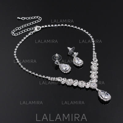 Jewelry Sets Alloy/Rhinestones Rhinestone Lobster Clasp Pierced Wedding & Party Jewelry (011167874)