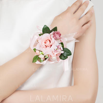"Wrist Corsage Free-Form Wedding/Party Satin/Cotton 3.15"" (Approx.8cm) Wedding Flowers (123188356)"