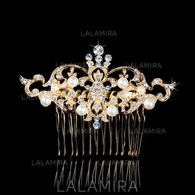 """Combs & Barrettes Wedding/Special Occasion/Party Rhinestone/Alloy/Imitation Pearls 3.35""""(Approx.8.5cm) 2.36""""(Approx.6cm) Headpieces (042157731)"""