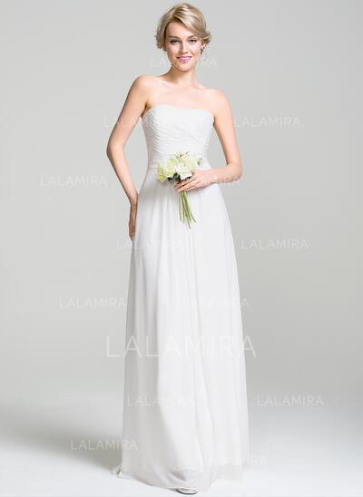 Vestidos princesa/ Formato A Amada Longos Tecido de seda Vestido de noiva com Pregueado (002118452)