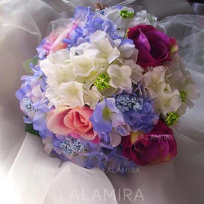 """Bridal Bouquets Free-Form Wedding Satin/Artificial Silk 11.81""""(Approx.30cm) Wedding Flowers (123189637)"""