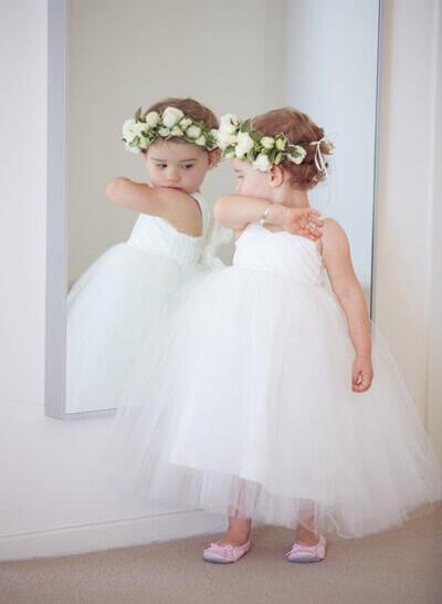 4e5836962 Sweetheart Ball Gown Flower Girl Dresses Sash Sleeveless Ankle-length  (010212176)