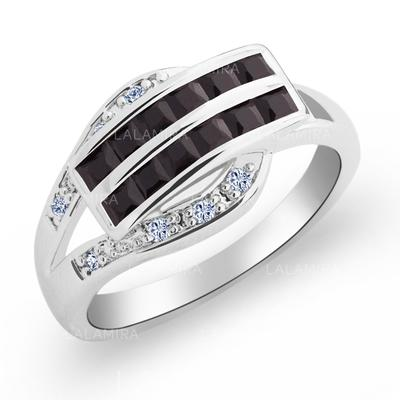 Rings Copper/Zircon/Platinum Plated Ladies' Pretty Wedding & Party Jewelry (011165411)