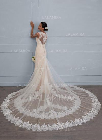Forme Fourreau - Dentelle Robes de mariée (002117108)