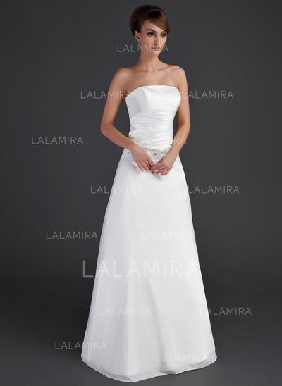 Taffeta Strapless Floor-Length Magnificent Wedding Dresses (002001666)
