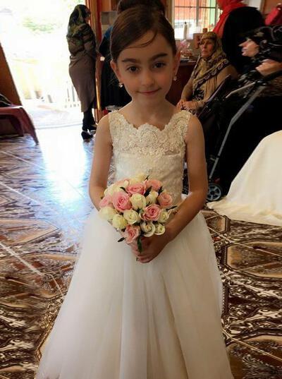 Stunning Square Neckline A-Line/Princess Flower Girl Dresses Floor-length Tulle/Lace Sleeveless (010146727)