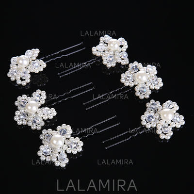 "Hairpins Wedding/Special Occasion Crystal/Alloy/Imitation Pearls 1.57""(Approx.4cm) 3.54""(Approx.9cm) Headpieces (042158654)"