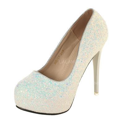 Women's Pumps Stiletto Heel Sparkling Glitter Wedding Shoes (047207225)