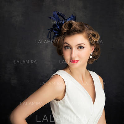 Cambric/Feather/Tulle With Feather/Imitation Pearls Fascinators Classic Ladies' Hats (196194190)