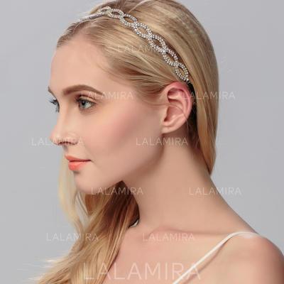"""Headbands Wedding Rhinestone/Alloy 9.65""""(Approx.24.5cm) 0.59""""(Approx.1.5cm) Headpieces (042158065)"""