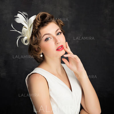 Feather/Tulle With Feather Fascinators Elegant Ladies' Hats (196194189)
