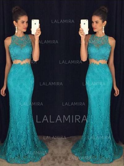 Trumpet/Mermaid Scoop Neck With Lace Evening Dresses (017212227)
