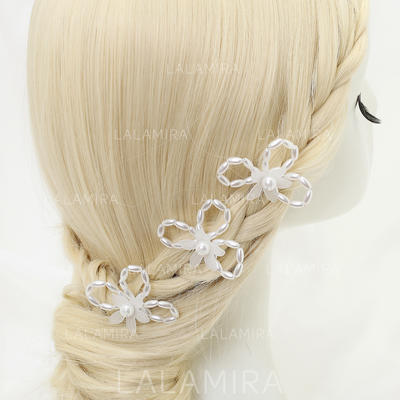 "Hairpins Wedding/Special Occasion/Party Alloy/Imitation Pearls 3.54""(Approx.9cm) 2.24""(Approx.5.7cm) Headpieces (042155276)"
