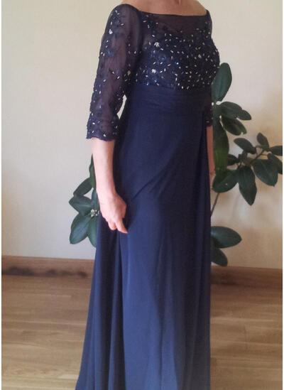 Forme Princesse Hors-la-épaule Mousseline Luxueux Robes mère de la mariée (008212766)