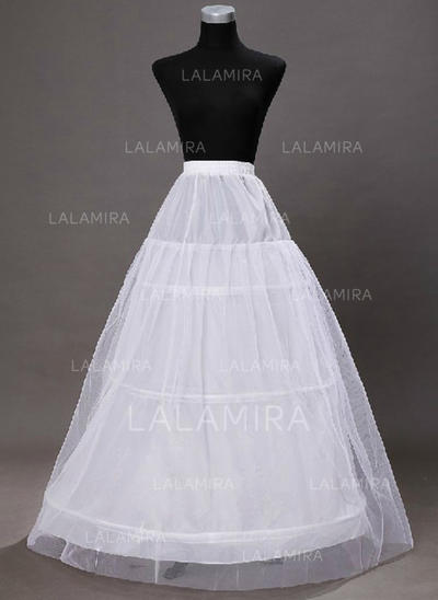 Bustle Ankle-length Tulle Netting/Taffeta/Satin/Lace A-Line Slip 2 Tiers Petticoats (037190833)