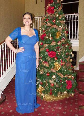 Forme Princesse Amoureux Mousseline Sublime Robes mère de la mariée (008212789)