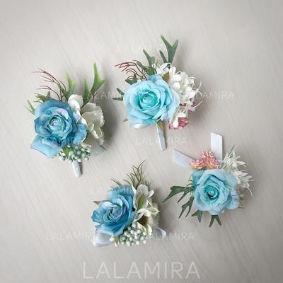 "Wrist Corsage/Boutonniere Free-Form Wedding Silk linen 3.54""(Approx.9cm) Wedding Flowers (123189940)"