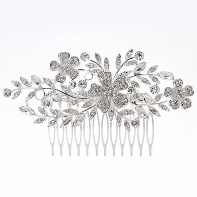 """Combs & Barrettes Wedding/Special Occasion Rhinestone/Alloy 4.53""""(Approx.11.5cm) 2.56""""(Approx.6.5cm) Headpieces (042158793)"""