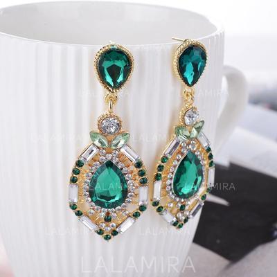 Pendientes Aleación/Diamantes de imitación Perforado Señoras' Maravilloso Joyas de boda & fiesta (011129651)
