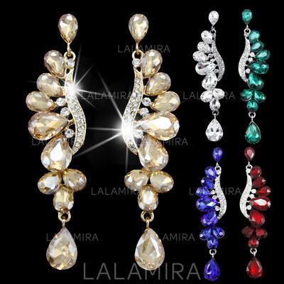 Pendientes Aleación/Diamantes de imitación Perforado Señoras' Romántico Joyas de boda & fiesta (011122106)
