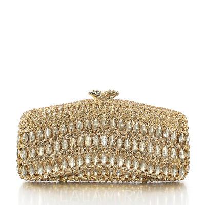 Brude Pung/Luksus Koblinger Bryllup/Ceremony & Fest Legering/Sølv Magnetisk Lukking Elegant Clutches & Selskapsvesker (012069505)
