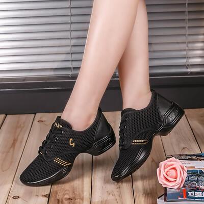 De mujer Zapatillas Zapatillas Tejido con Cordones Zapatos de danza (053106471)