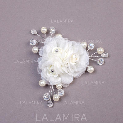 "Combs & Barrettes Wedding/Special Occasion/Party Imitation Pearls/Net Yarn 3.94""(Approx.10cm) 1.18""(Approx.3cm) Headpieces (042155917)"
