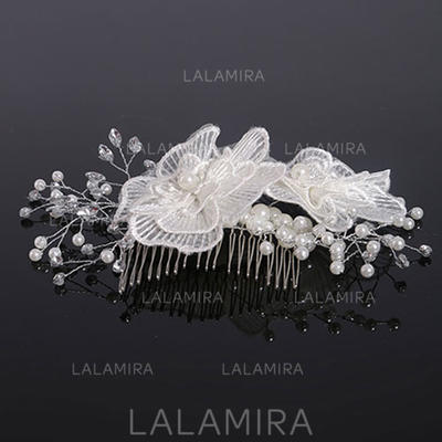 "Combs & Barrettes Wedding Crystal/Imitation Pearls/Lace 5.91""(Approx.15cm) 5.91""(Approx.15cm) Headpieces (042159023)"