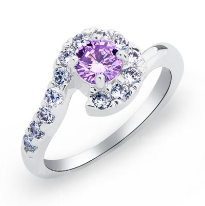 Rings Copper/Zircon/Platinum Plated Ladies' Sparking Wedding & Party Jewelry (011165408)