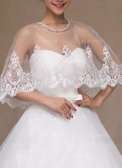 Wrap Wedding Lace With Rhinestones Other Colors Wraps (013149711)