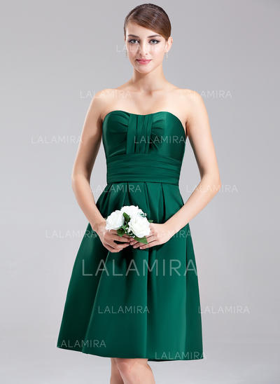 Magnificent Sweetheart A-Line/Princess Sleeveless Satin Bridesmaid Dresses (007001887)