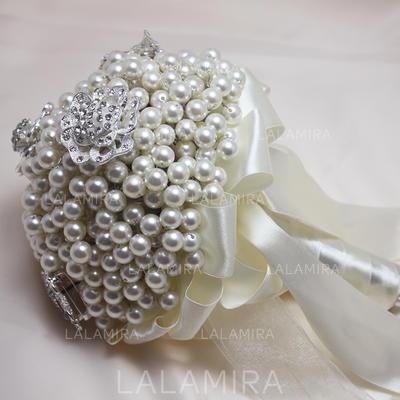 Atractivo Redondo Rhinestone/Perlas de imitación Ramos de novia - (123069395)