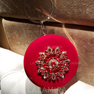 "Clutches Wedding/Ceremony & Party Velvet Clip Closure 7.09""(Approx.18cm) Clutches & Evening Bags (012187982)"