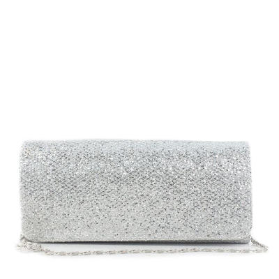 Clutches Wedding/Ceremony & Party Silk Magnetic Closure Shining Clutches & Evening Bags (012184080)
