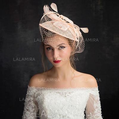 Fjær/Netto Garn/Blonder/Tyll med Fjær Fascinators Klassisk stil Damene ' Hatter (196105106)