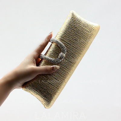 Clutches Wedding/Ceremony & Party Polyester Snap Closure Attractive Clutches & Evening Bags (012187522)