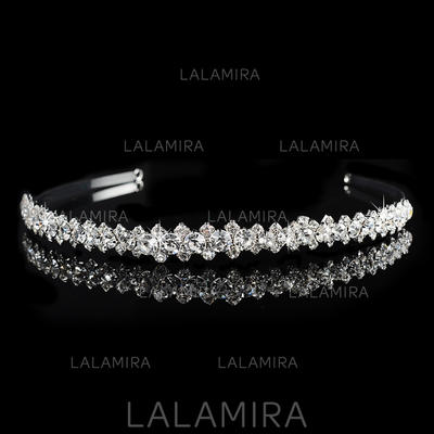 """Tiaras Wedding/Special Occasion/Party Rhinestone/Alloy 0.59""""(Approx.1.5cm) 6.3""""(Approx.16cm) Headpieces (042157350)"""