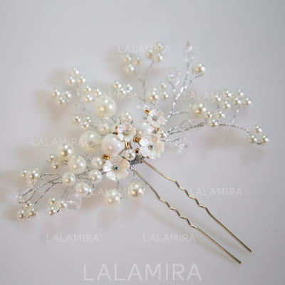 """Hairpins Wedding/Special Occasion Alloy/Imitation Pearls 3.15""""(Approx.8cm) 0.78""""(Approx.2cm) Headpieces (042158603)"""