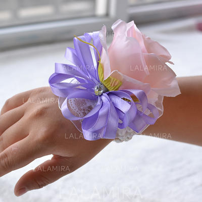 "Wrist Corsage Wedding Satin 5.91""(Approx.15cm) 3.94""(Approx.10cm) Wedding Flowers (123189453)"