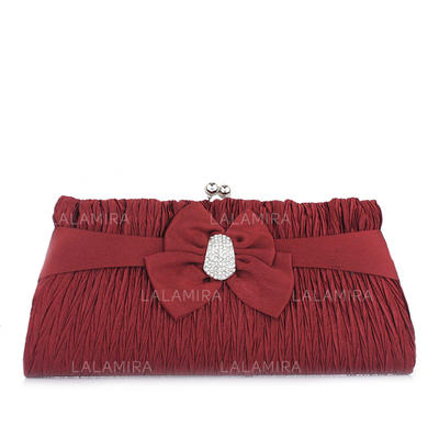 Clutches/Satchel Wedding/Ceremony & Party Satin Lovely Clutches & Evening Bags (012186915)