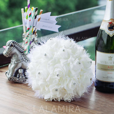 "Bridal Bouquets Round Wedding PE 9.45""(Approx.24cm) Wedding Flowers (123188917)"