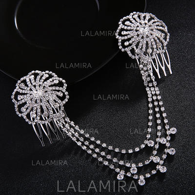 "Combs & Barrettes Wedding/Special Occasion/Party Rhinestone 8.66""(Approx.22cm) 1.77""(Approx.4.5cm) Headpieces (042156538)"