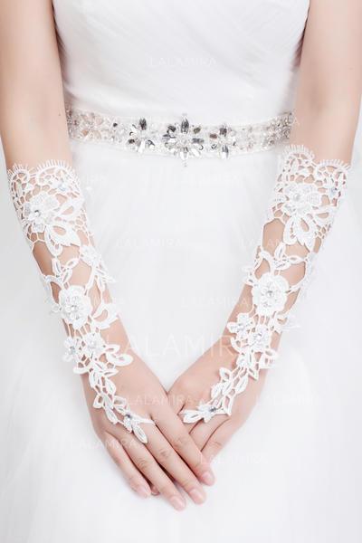Lace Ladies' Gloves Elbow Length Bridal Gloves Fingerless Gloves (014192075)