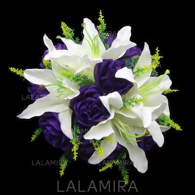 "Bridal Bouquets Round Wedding Satin 8.66""(Approx.22cm) Wedding Flowers (123188273)"