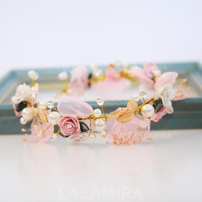 "Headbands Wedding/Special Occasion Alloy/Imitation Pearls/Chiffon 11.8""(Approx.30cm) 2.36""(Approx.6cm) Headpieces (042158595)"